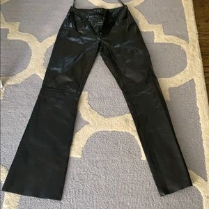 Theory lambskin leather jeans 0